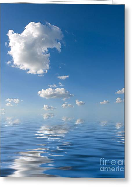 Beautiful Clouds And Sea Greeting Card by Boon Mee