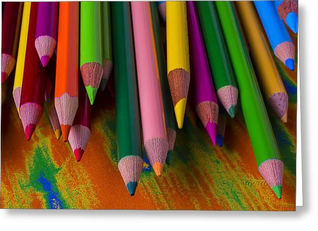 Beautiful Colored Pencils Greeting Card