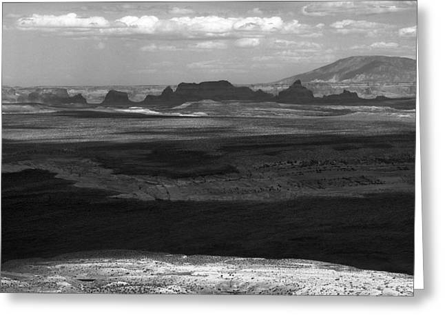 Beautiful Country In Black And White Greeting Card by Arkady Kunysz
