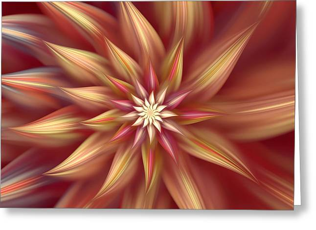 Beautiful Dahlia Abstract Greeting Card by Georgiana Romanovna