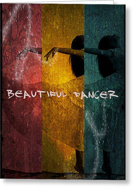 Greeting Card featuring the digital art Beautiful Dancer by Absinthe Art By Michelle LeAnn Scott