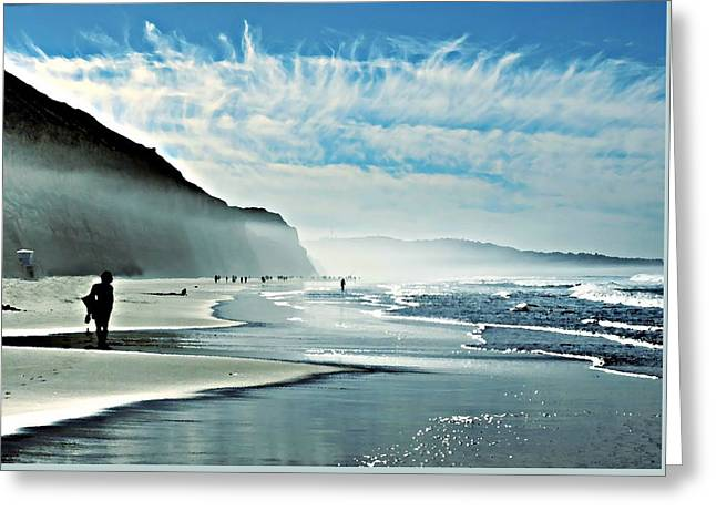 Another Beautiful Day At The Beach Greeting Card by Sharon Soberon