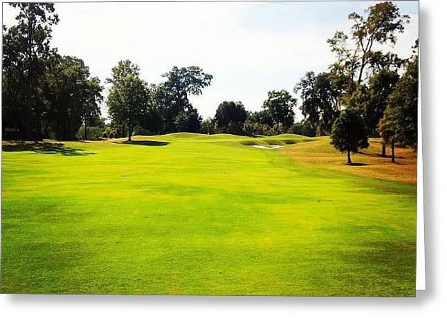 Beautiful Day #golf #fairway#iphone5 Greeting Card