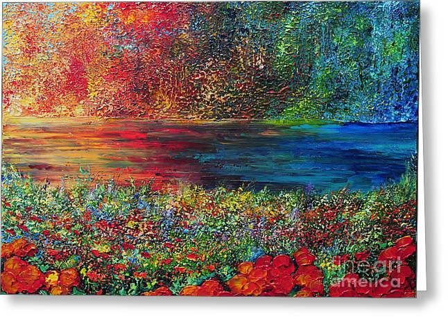 Beautiful Day Greeting Card by Teresa Wegrzyn
