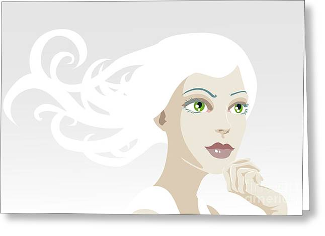 Beautiful Ethereal Tranquil Woman Greeting Card