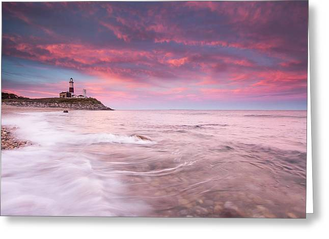 Beautiful Evening Clouds Swirl Greeting Card by Robbie George