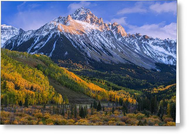Beautiful Fall Evening Greeting Card by Tim Reaves