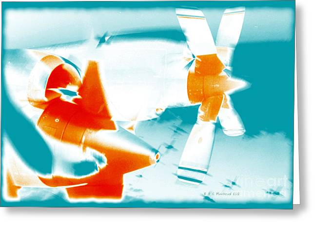 Greeting Card featuring the photograph Fixed Wing Aircraft Pop Art Poster by R Muirhead Art