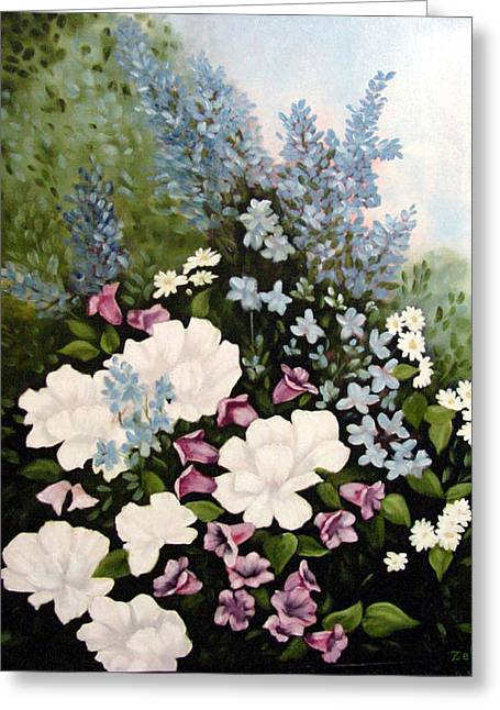 Beautiful Floral Greeting Card by Zelma Hensel