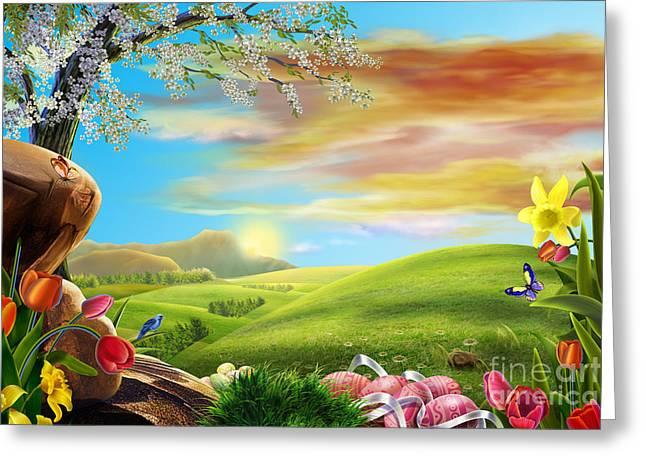 Beautiful Flower Art Greeting Card