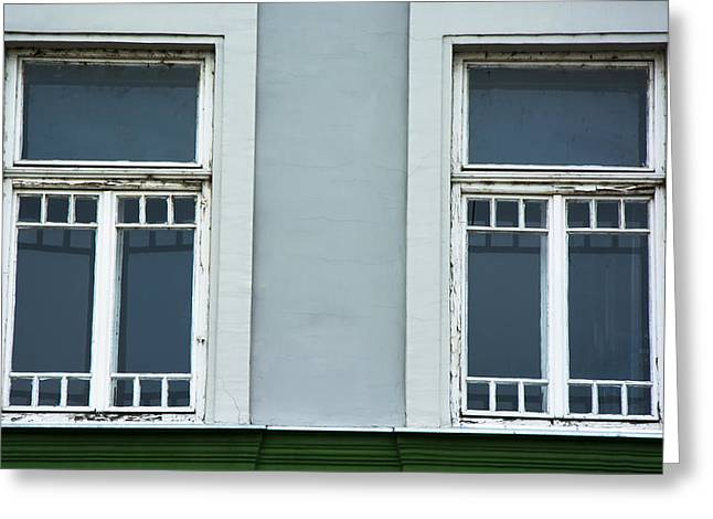 Beautiful Green Windows Greeting Card