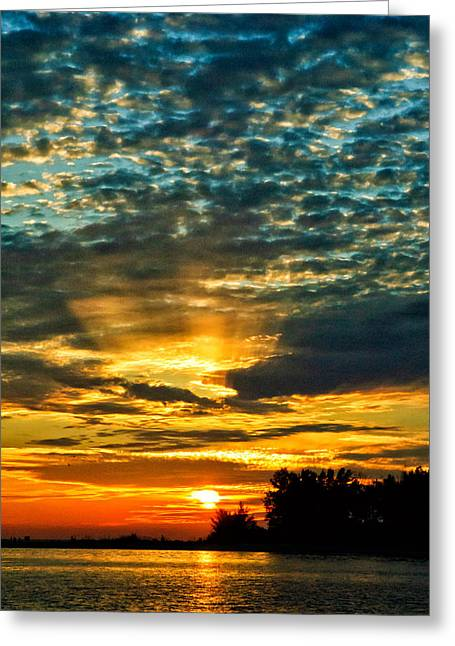 Greeting Card featuring the photograph Beautiful Gulf Of Mexico Sunset by Louis Dallara