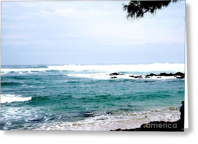 Beautiful Hawiian Waters Greeting Card by Marsha Heiken