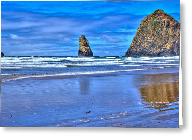 Beautiful Haystack Rock And The Needles Greeting Card by David Patterson