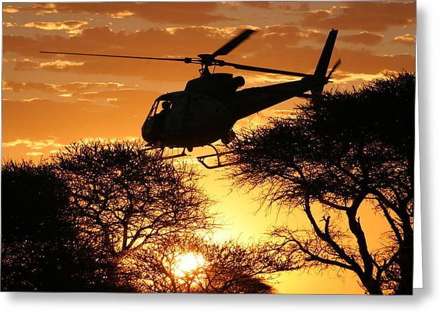 Beautiful Helicopter Greeting Card