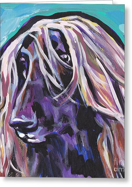 Beautiful Hound Greeting Card by Lea S