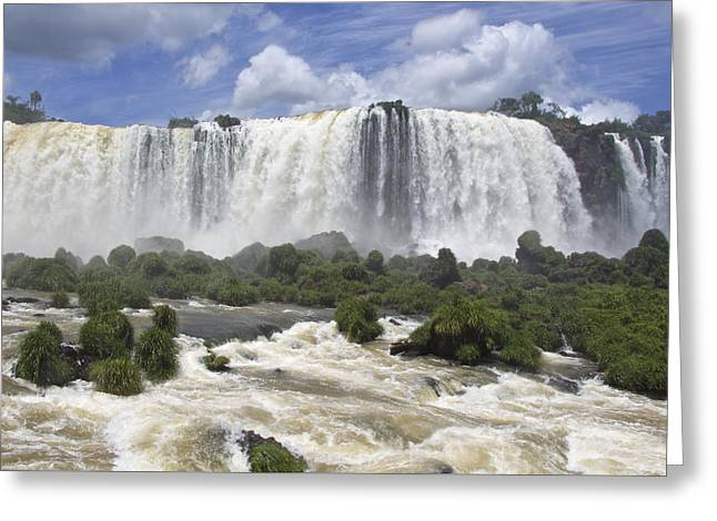 Beautiful Iguazu Waterfalls  Greeting Card