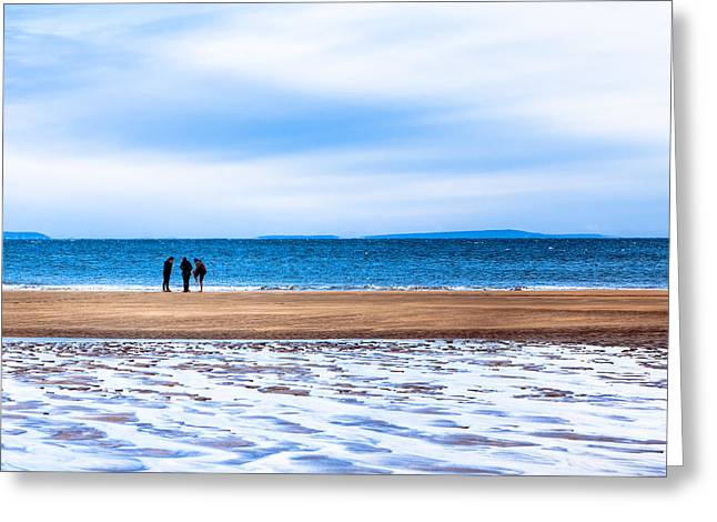 Beautiful Irish Beach On A Winter Day Greeting Card by Mark E Tisdale