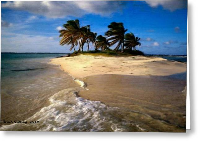 Greeting Card featuring the painting Beautiful Island by Bruce Nutting