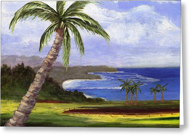 Greeting Card featuring the painting Beautiful Kauai by Jamie Frier