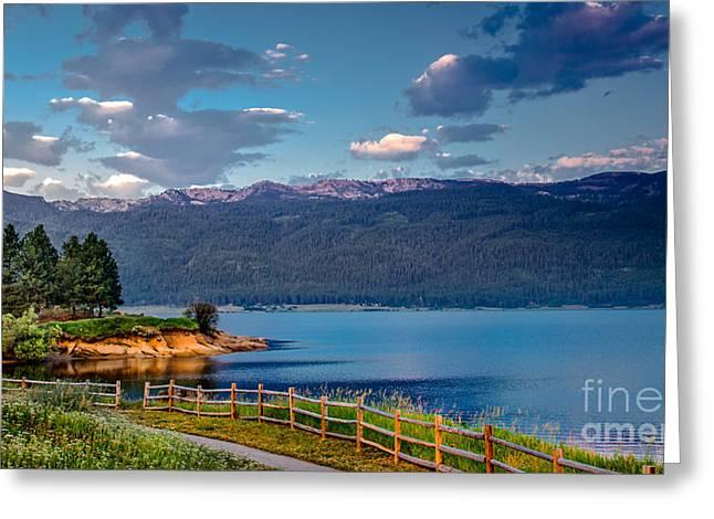 Beautiful Lake View Greeting Card by Robert Bales