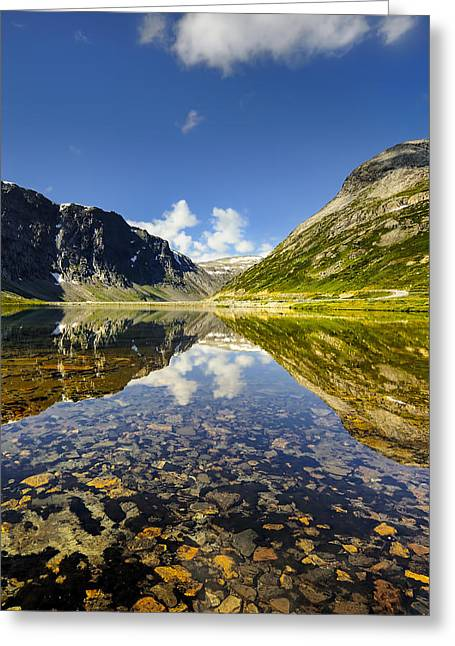 Beautiful Landscape Of Norway Greeting Card