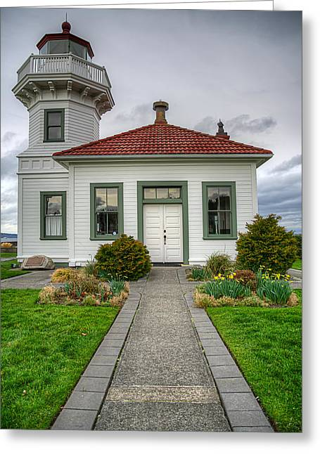 Beautiful Lighthouse Greeting Card by Spencer McDonald