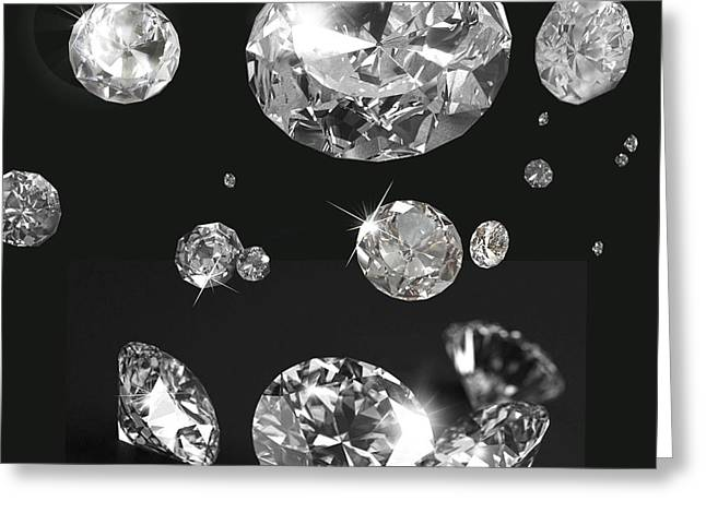 Beautiful Like Diamonds In The Sky Greeting Card by Gina Dsgn