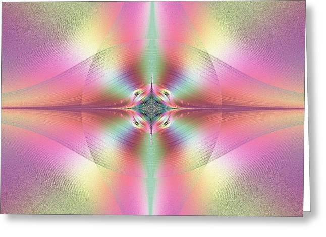Beautiful Loving And Merciful Eyes Of God Fractal Greeting Card by Rose Santuci-Sofranko