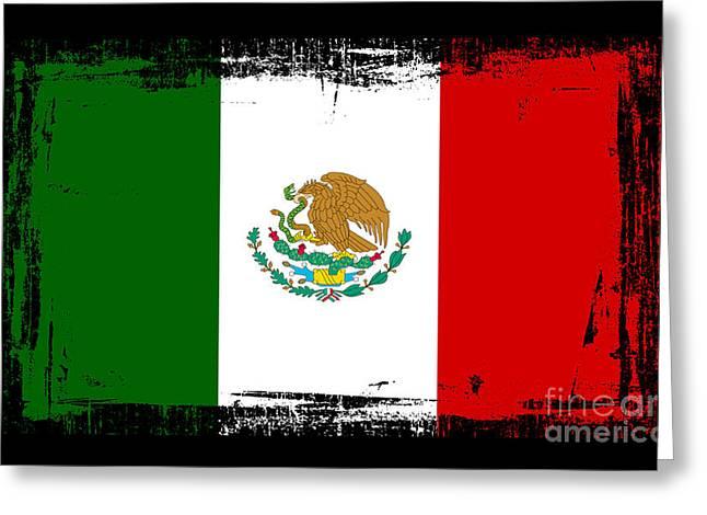 Beautiful Mexico Flag Greeting Card