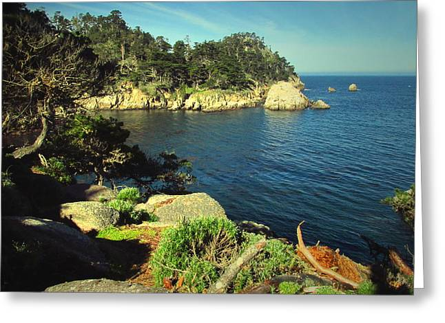 Beautiful Monterey Bay From Point Lobos Greeting Card