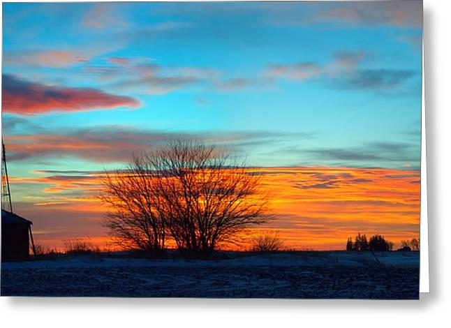 Beautiful Mornin' Panorama Greeting Card