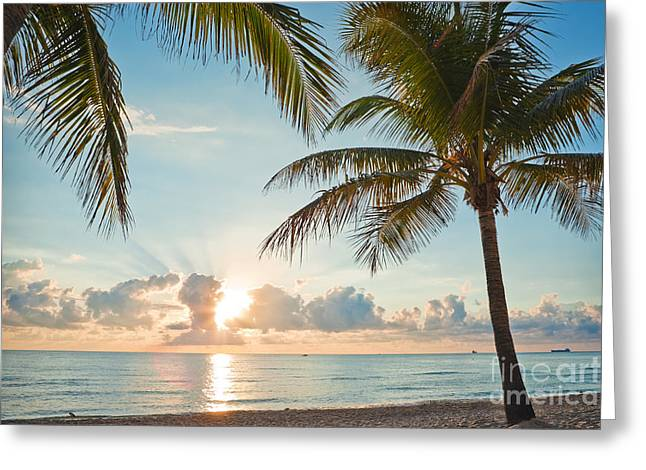 Beautiful Morning In Ft. Lauderdale Florida Greeting Card by Sharon Dominick