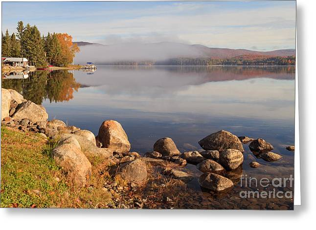 Beautiful Morning On Island Pond Greeting Card
