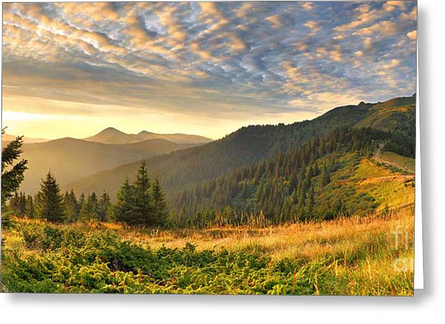 Beautiful Mountains Landscape Greeting Card by Boon Mee