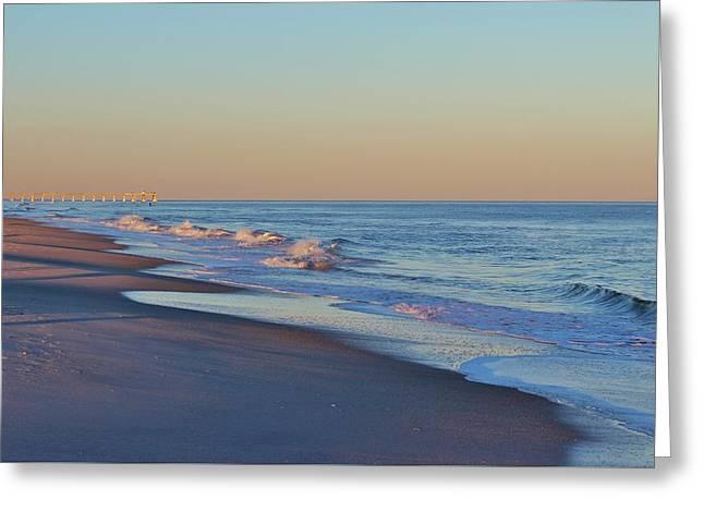 Beautiful Ocean In Nc Greeting Card by Cynthia Guinn