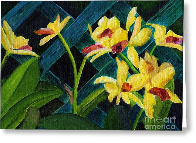 Beautiful Orchids  Greeting Card by Maria Williams