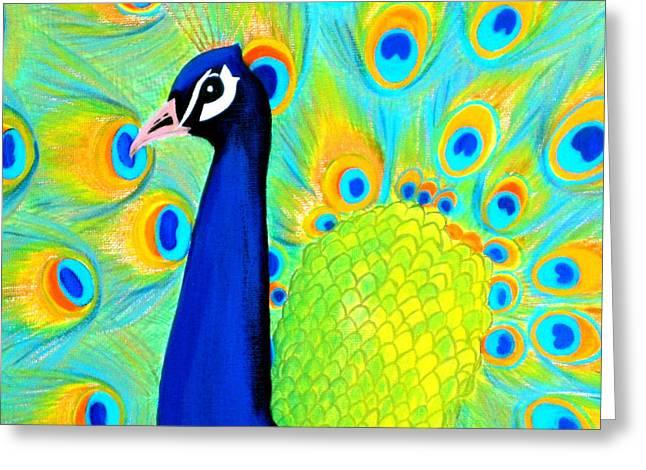 Beautiful Peacock Card Greeting Card