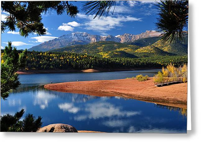 Beautiful Pikes Peak At Crystal  Greeting Card by John Hoffman