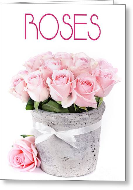 Beautiful Pink Roses Valentine Greeting Card by Boon Mee