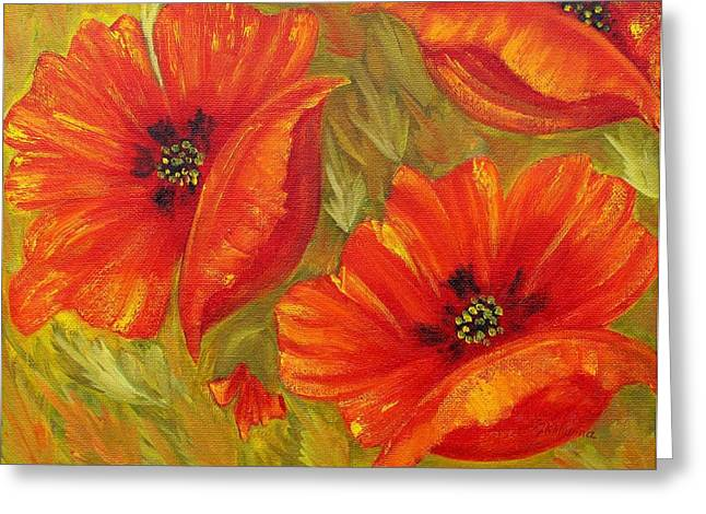 Beautiful Poppies Greeting Card