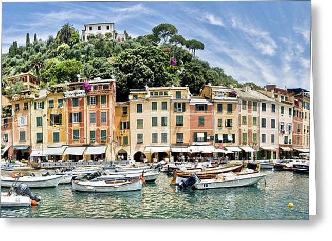 Beautiful Portofino Greeting Card by Mesha Zelkovich