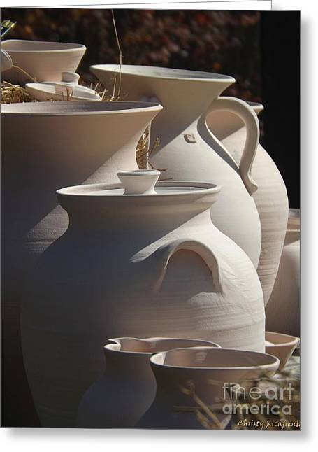 Beautiful Pottery Greeting Card by Christy Ricafrente