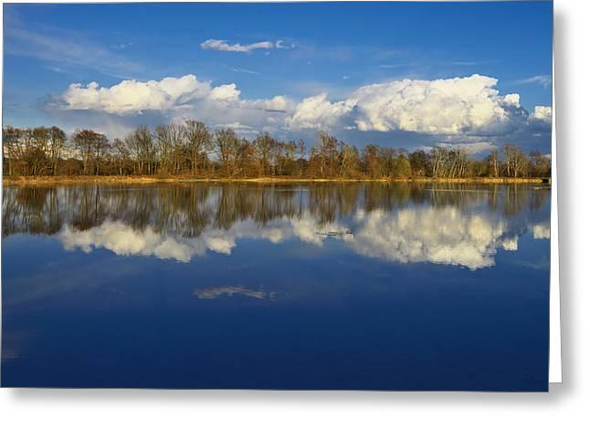 Beautiful Reflection Greeting Card by Ivan Slosar