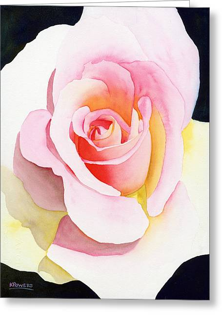 Greeting Card featuring the painting Beautiful Rose by Ken Powers