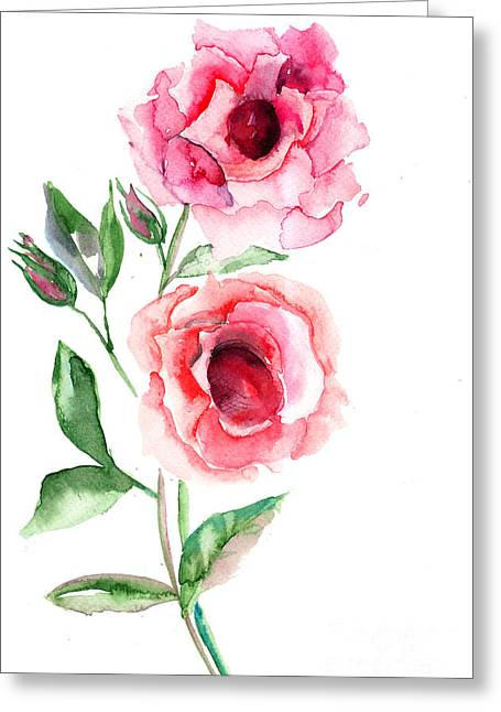 Beautiful Roses Flowers Greeting Card