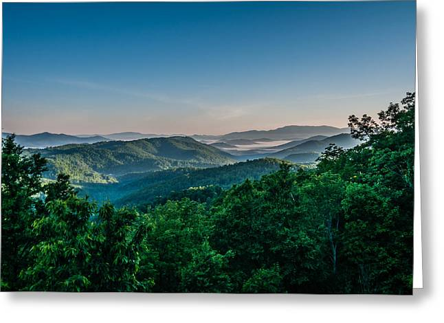 Beautiful Scenery From Crowders Mountain In North Carolina Greeting Card