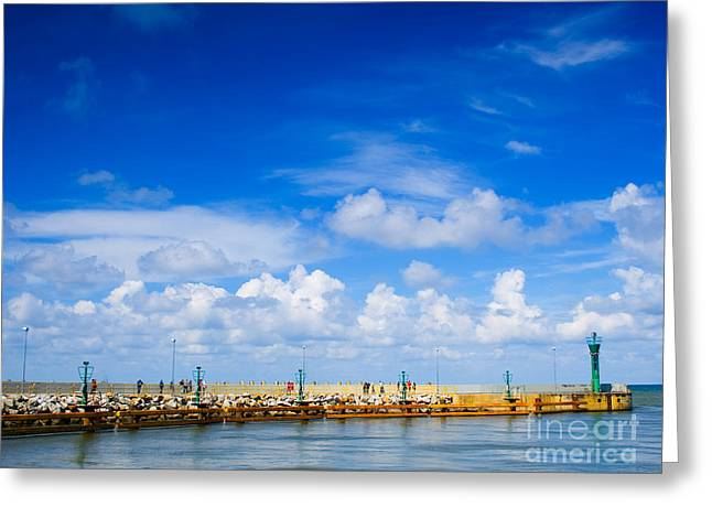 Beautiful Sea Sky Greeting Card by Boon Mee