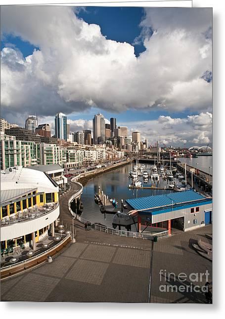 Beautiful Seattle Sky Greeting Card by Mike Reid