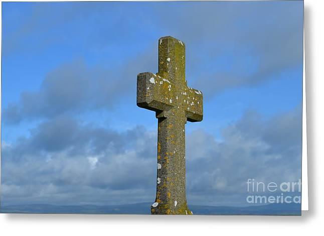 Beautiful Stone Cross In Ireland Greeting Card